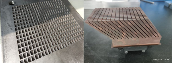 Aero-engine intake titanium alloy grille